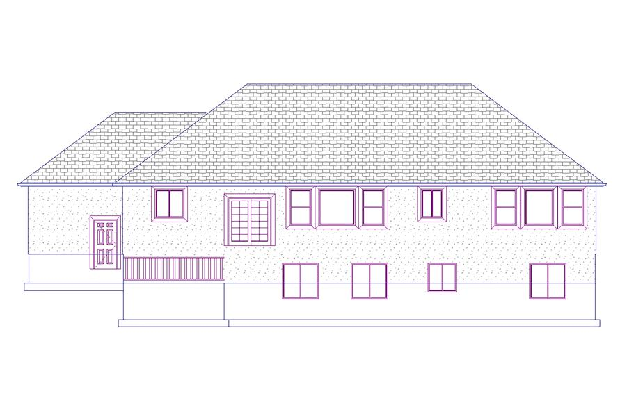 Home Plan Rear Elevation of this 6-Bedroom,2085 Sq Ft Plan -187-1072