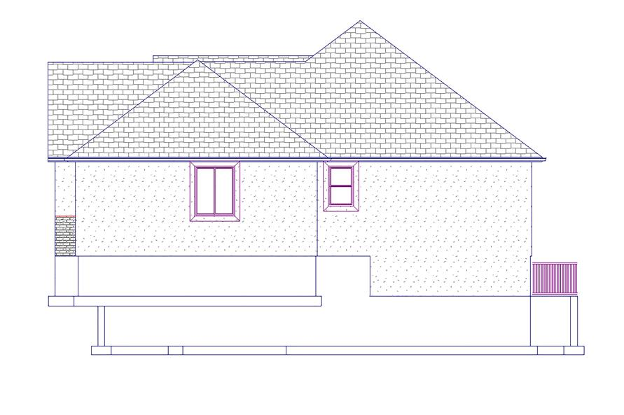 Home Plan Right Elevation of this 6-Bedroom,2085 Sq Ft Plan -187-1072