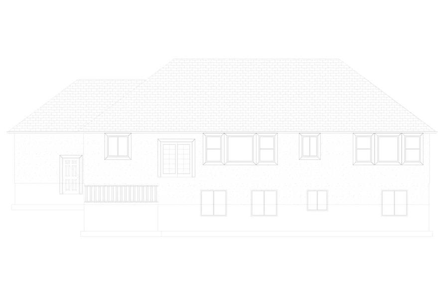 Home Plan Rear Elevation of this 3-Bedroom,2085 Sq Ft Plan -187-1072