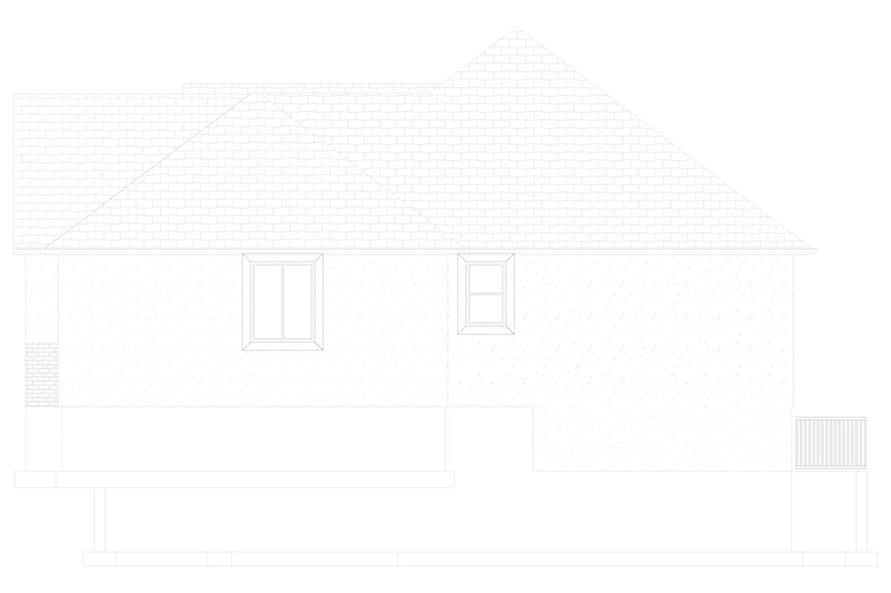 Home Plan Right Elevation of this 3-Bedroom,2085 Sq Ft Plan -187-1072
