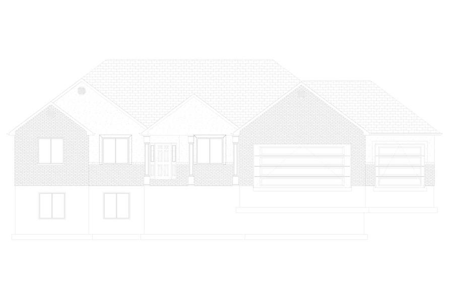 Home Plan Front Elevation of this 3-Bedroom,2085 Sq Ft Plan -187-1072