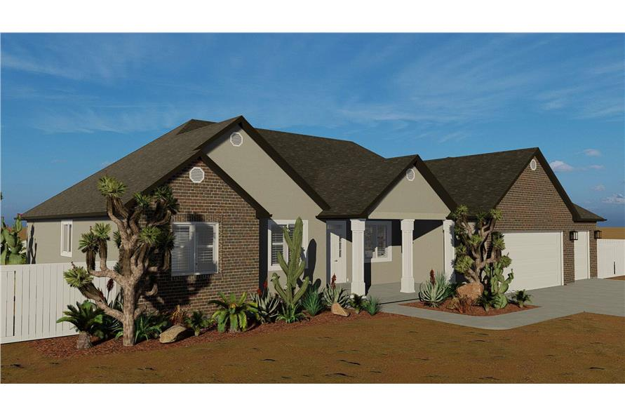 Front View of this 3-Bedroom,2085 Sq Ft Plan -2085