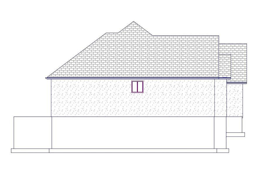Home Plan Left Elevation of this 5-Bedroom,2199 Sq Ft Plan -187-1075