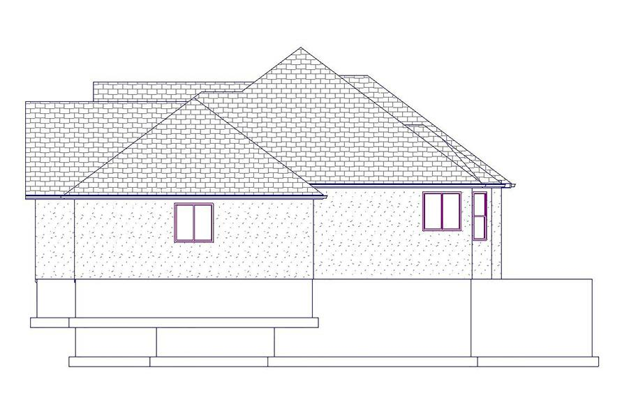 Home Plan Right Elevation of this 5-Bedroom,2199 Sq Ft Plan -187-1075