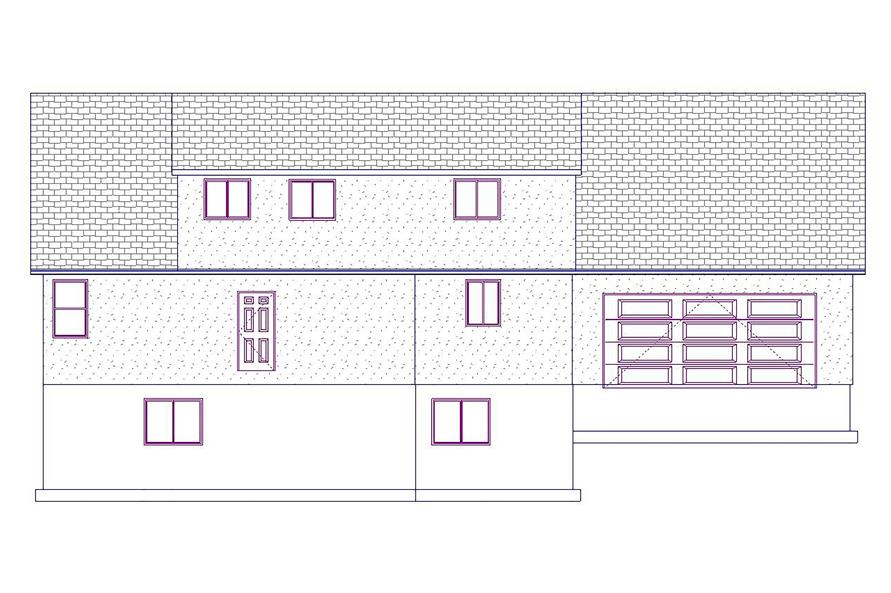 187-1076: Home Plan Front Elevation