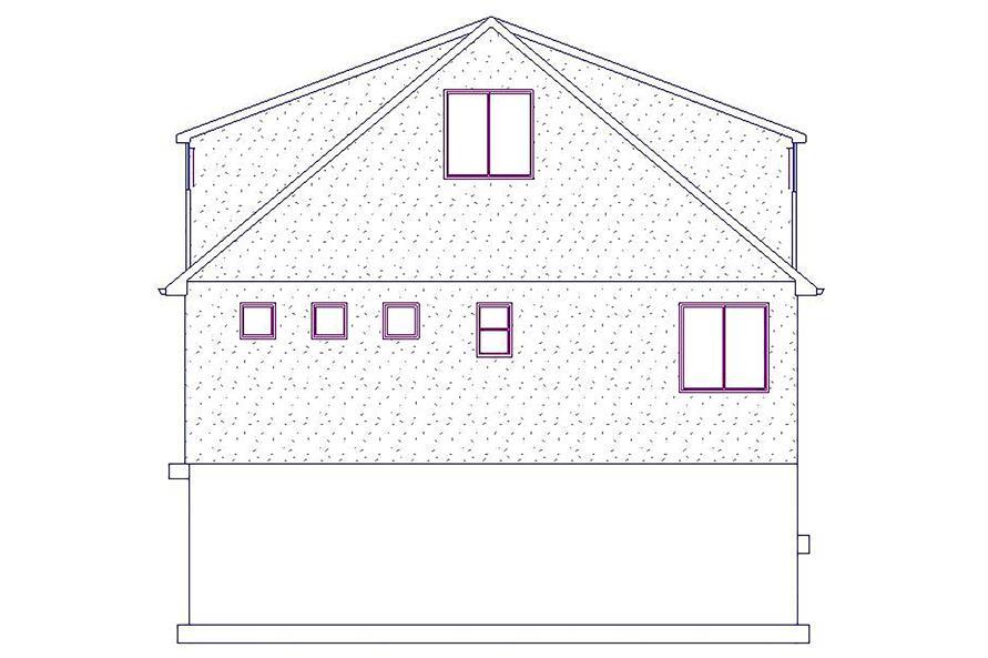 187-1076: Home Plan Left Elevation