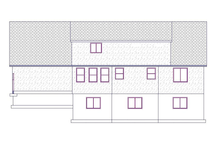 187-1076: Home Plan Rear Elevation