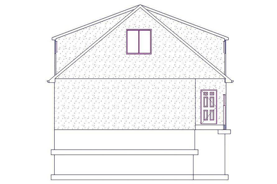 187-1076: Home Plan Right Elevation