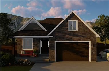 5-Bedroom, 1898 Sq Ft Ranch House Plan - 187-1135 - Front Exterior