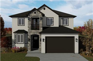 5-Bedroom, 2587 Sq Ft Contemporary Home Plan - 187-1137 - Main Exterior