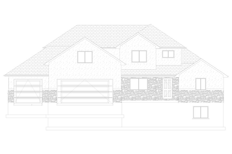 Home Plan Front Elevation of this 6-Bedroom,2591 Sq Ft Plan -187-1139