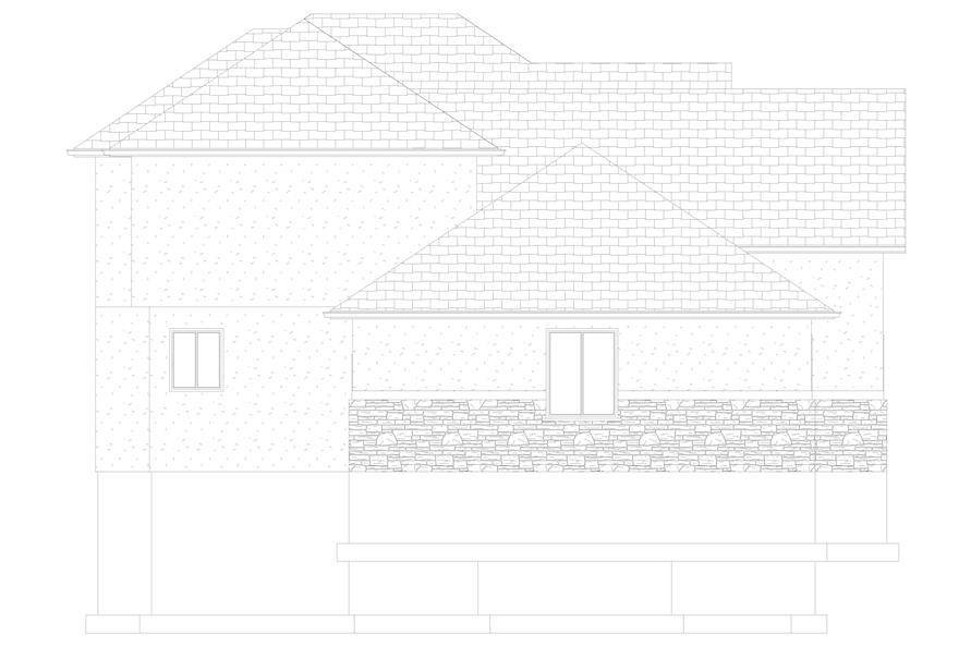 Home Plan Left Elevation of this 6-Bedroom,2591 Sq Ft Plan -187-1139
