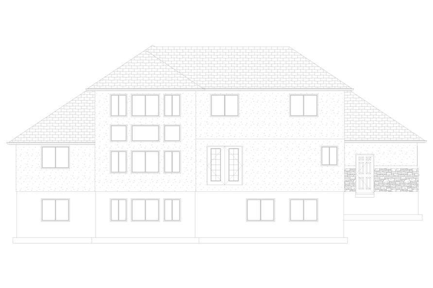 187-1139: Home Plan Rear Elevation