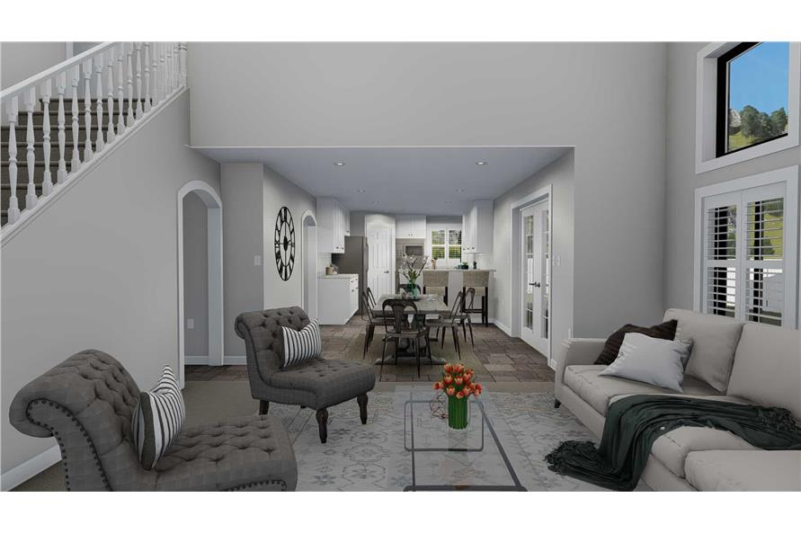 187-1139: Home Plan Rendering-Family Room