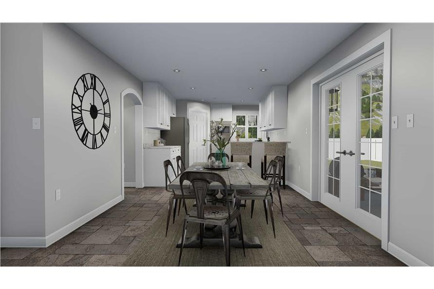 187-1139: Home Plan Rendering-Dining Room