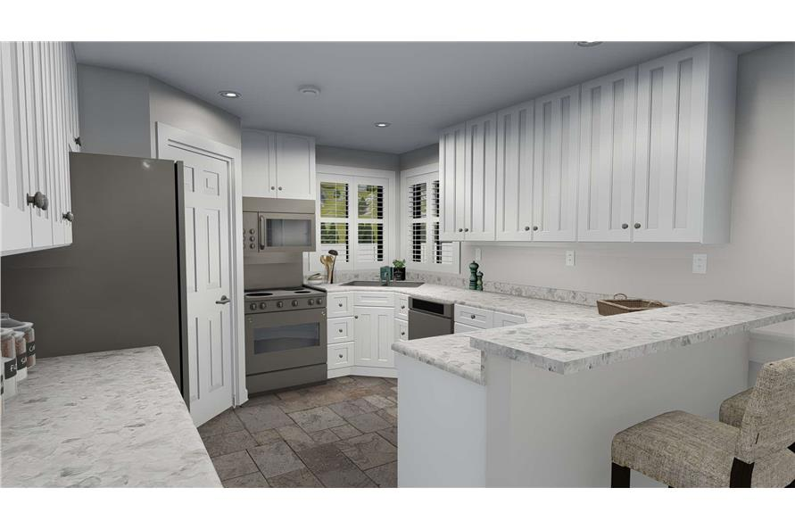 187-1139: Home Plan Rendering-Kitchen