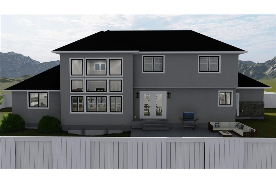 Home Plan Rendering of this 6-Bedroom,2591 Sq Ft Plan -187-1139