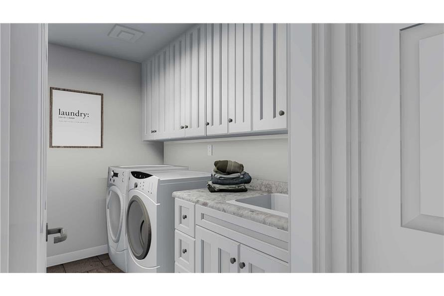 187-1139: Home Plan Rendering-Laundry Room