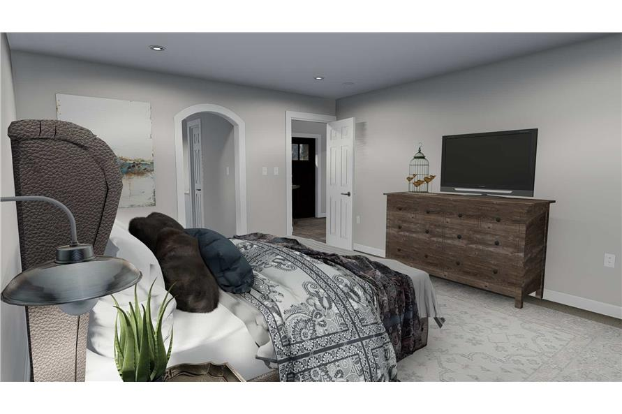 187-1139: Home Plan Rendering-Bedroom