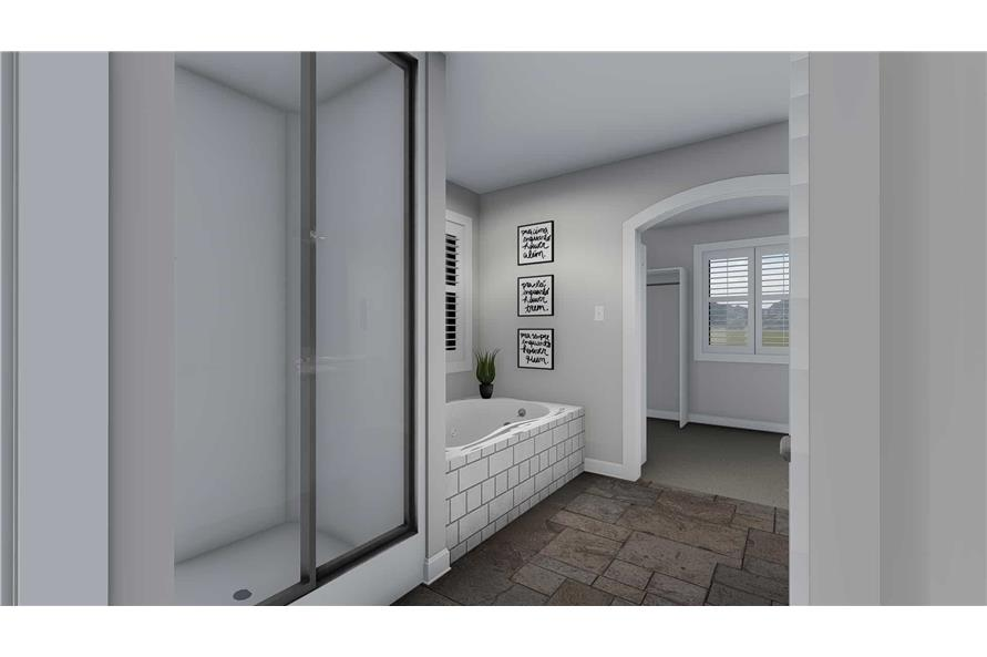 187-1139: Home Plan Rendering-Master Bathroom