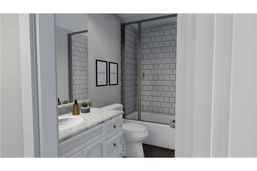 187-1139: Home Plan Rendering-Bathroom