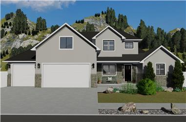 6-Bedroom, 2591 Sq Ft Farmhouse House Plan - 187-1139 - Front Exterior