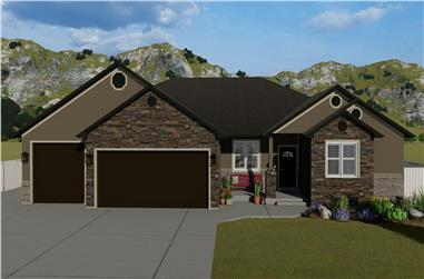 2-5 Bedroom, 2446-4979 Sq Ft Ranch House Plan - 187-1140 - Front Exterior