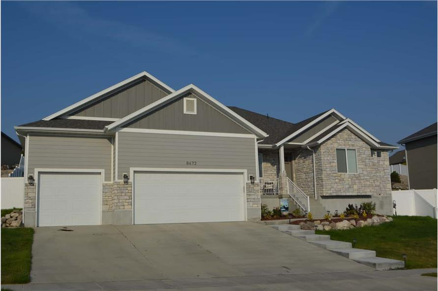 Left Side View of this 3-Bedroom,2050 Sq Ft Plan -187-1141