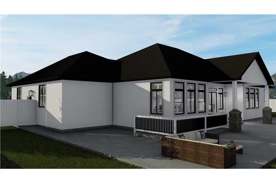 Home Plan Rendering of this 3-Bedroom,2050 Sq Ft Plan -2050