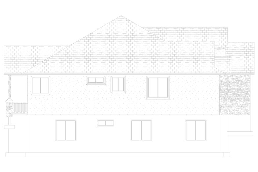 Home Plan Left Elevation of this 5-Bedroom,2050 Sq Ft Plan -187-1141