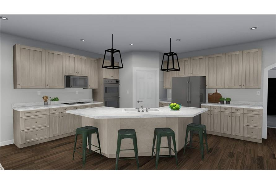Kitchen of this 3-Bedroom,2050 Sq Ft Plan -2050