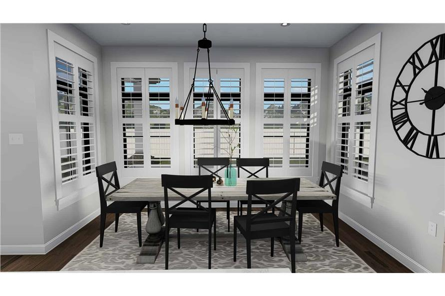 Dining Room of this 3-Bedroom,2050 Sq Ft Plan -2050