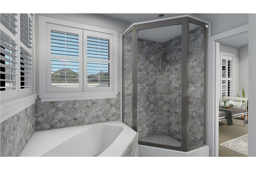 Master Bathroom of this 3-Bedroom,2050 Sq Ft Plan -2050