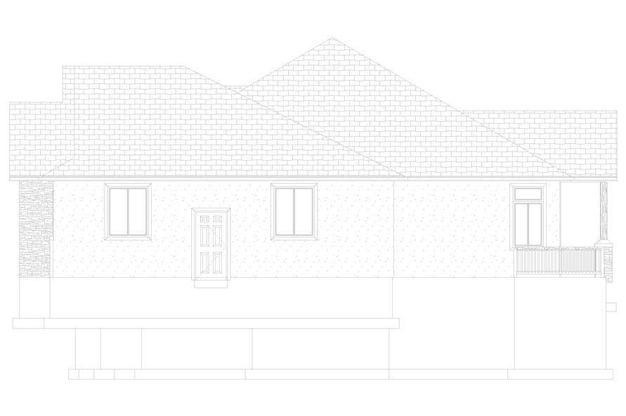 Home Plan Right Elevation of this 5-Bedroom,2050 Sq Ft Plan -187-1141