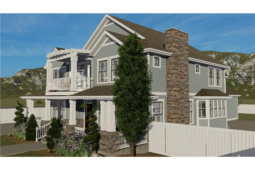 Home Plan Rendering of this 4-Bedroom,3821 Sq Ft Plan -3821