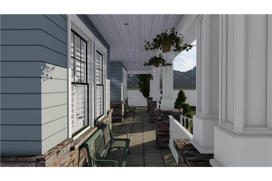 Porch of this 4-Bedroom,3821 Sq Ft Plan -3821