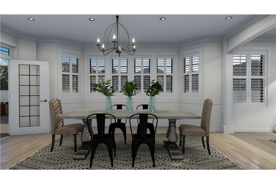 Dining Room of this 4-Bedroom,3821 Sq Ft Plan -3821