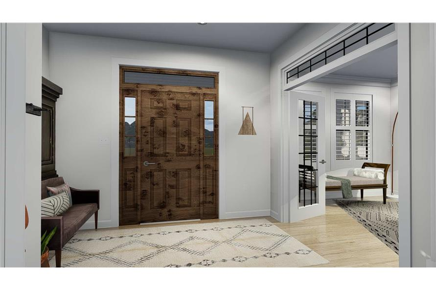 Entry Hall: Foyer of this 4-Bedroom,3821 Sq Ft Plan -3821