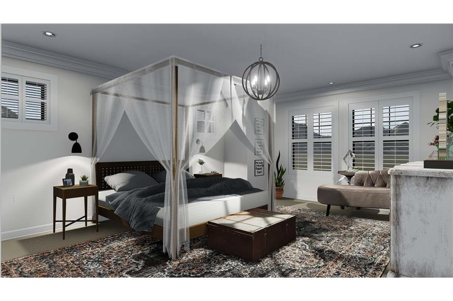 Master Bedroom of this 4-Bedroom,3821 Sq Ft Plan -3821