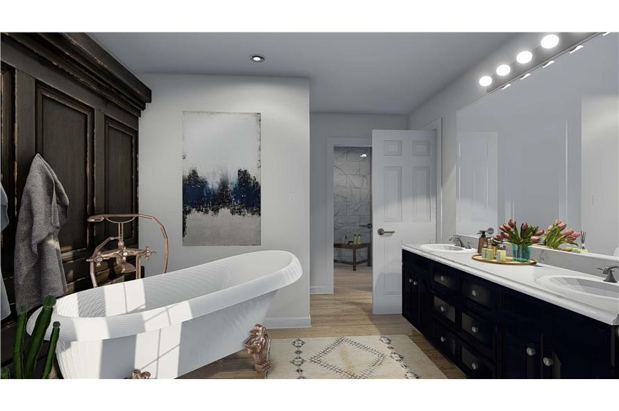 Master Bathroom of this 4-Bedroom,3821 Sq Ft Plan -3821