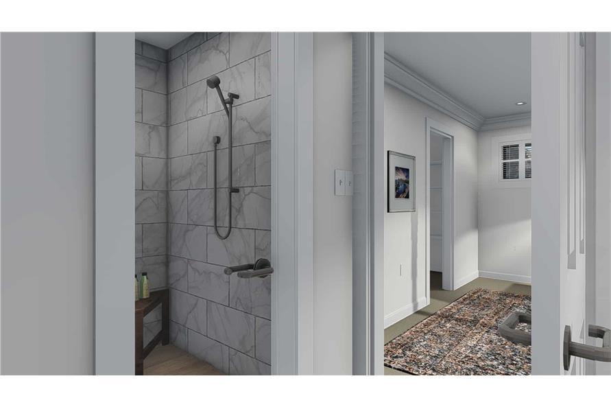 Home Plan Rendering of this 6-Bedroom,3821 Sq Ft Plan -187-1142