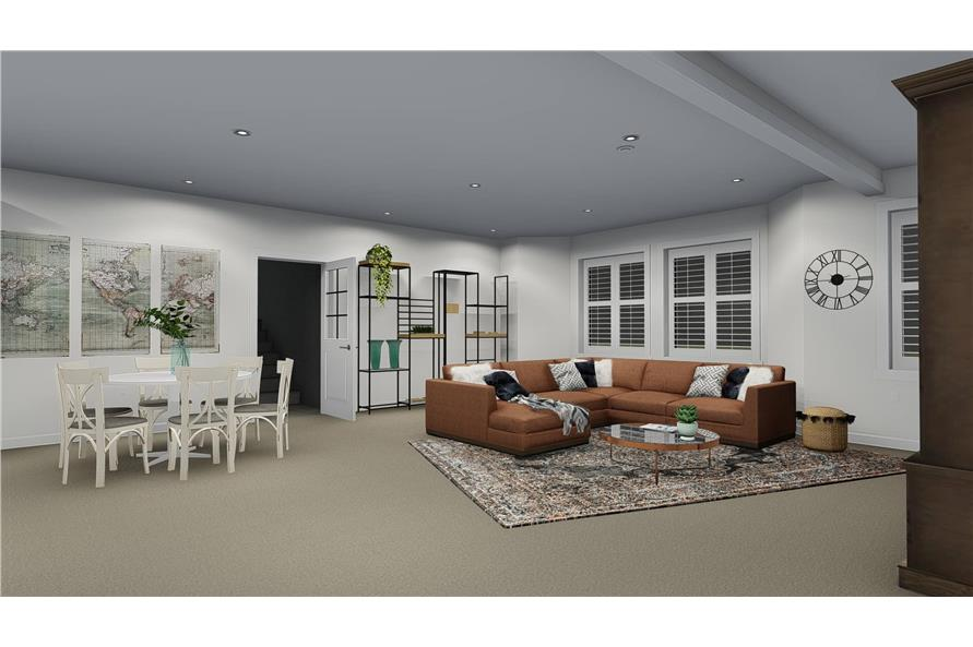 Family Room of this 4-Bedroom,3821 Sq Ft Plan -3821