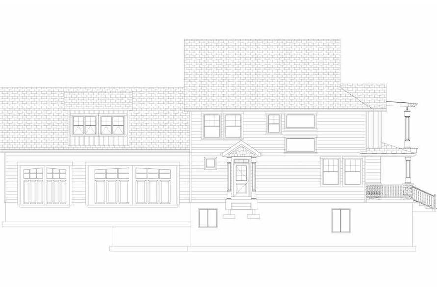 Home Plan Left Elevation of this 6-Bedroom,3821 Sq Ft Plan -187-1142