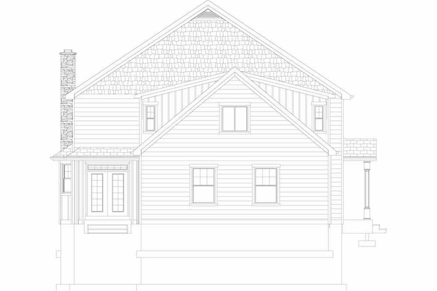 Home Plan Rear Elevation of this 6-Bedroom,3821 Sq Ft Plan -187-1142