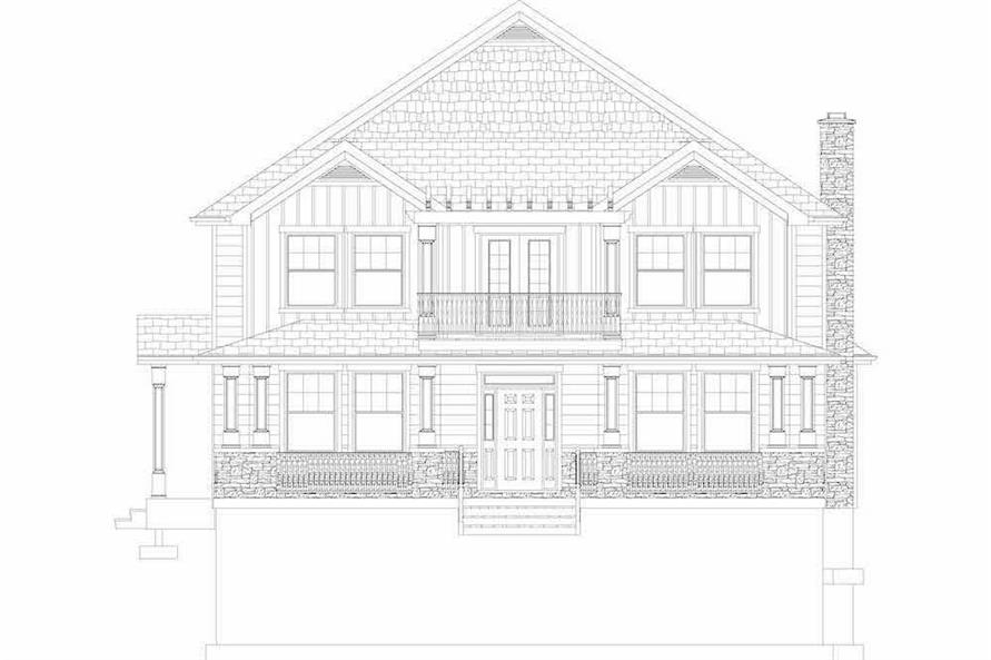 Home Plan Front Elevation of this 6-Bedroom,3821 Sq Ft Plan -187-1142