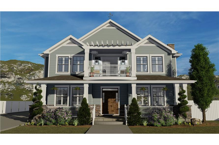 4-6 Bedroom, 3054 Sq Ft Cottage House - Plan #187-1142 - Front Exterior