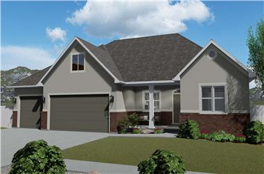 6-Bedroom, 2481 Sq Ft Country Home Plan - 187-1143 - Main Exterior