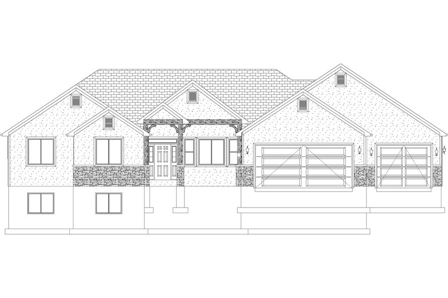 Home Plan Front Elevation of this 5-Bedroom,2254 Sq Ft Plan -187-1144