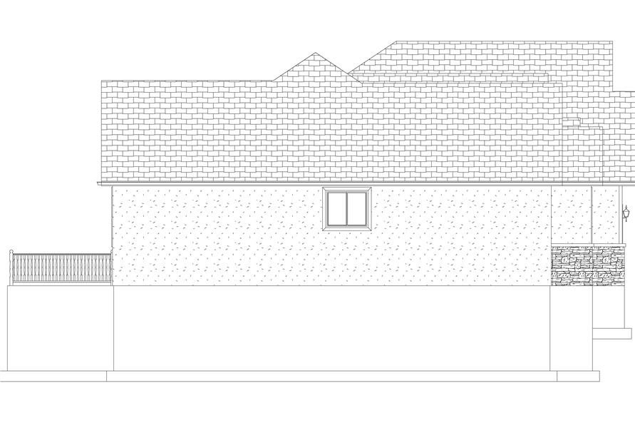 Home Plan Left Elevation of this 5-Bedroom,2254 Sq Ft Plan -187-1144