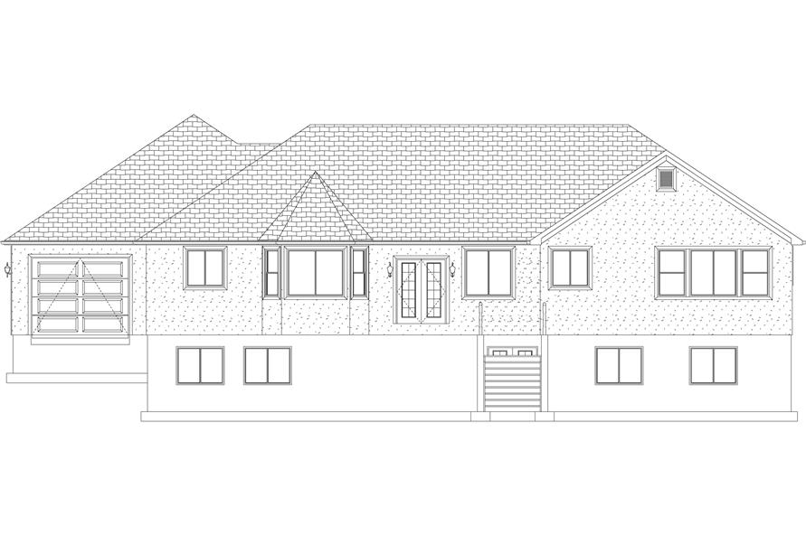 Home Plan Rear Elevation of this 5-Bedroom,2254 Sq Ft Plan -187-1144